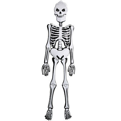 "Cheap 5ft Inflatable Skeleton – 60"" Blow Up Halloween Decoration Bristol Novelty"