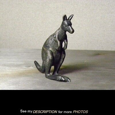 Antique William Drummond & Co Pure Australian Silver KANGAROO Figure sterling