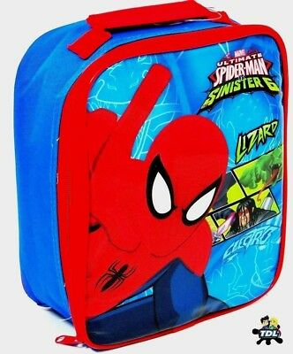 NEW Marvels Official Ultimate Spiderman Child Kids School Insulated Lunch Bag