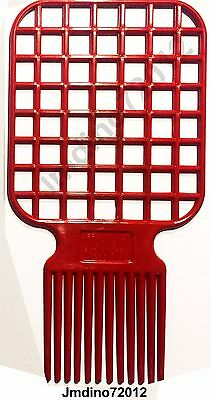 Afro & Twist Comb (Red)-Barber Favored