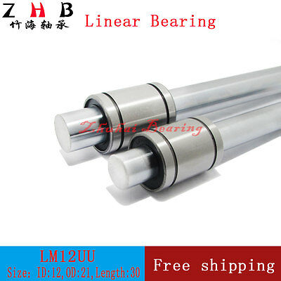 200pcs/lot FedEx Shipping LM12UU 12mm linear ball bearing for 12mm linear shaft