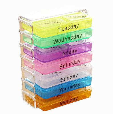 A Week 28 Grids Mini Portable Pill Case Assure To Remind