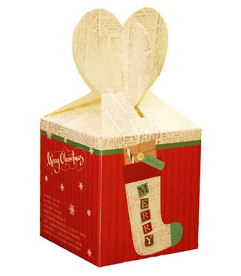 Set of 5 Exquisite Packaging/ Gift Boxes Christmas Gift Box  -Apple Box 01