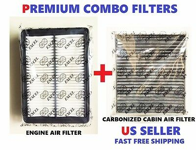 COMBO Engine & CARBONIZED Cabin Air filters set For 2015 -17 HYUNDAI Sonata 2.4L