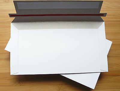 20 Pcs 130x240mm 300gsm Card DLX DL Envelope Envelopes Mailers Semi Rigid White