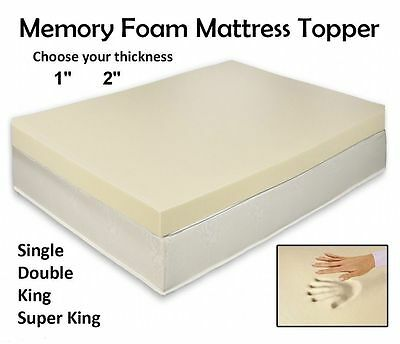 QUALITY Memory Foam Mattress Topper All Depth and Sizes