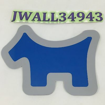 "New Scotty Cameron Sticker Blue Scotty Dog Logo Large 4"" x 3"""