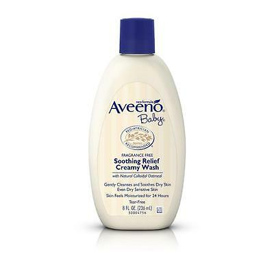 Aveeno BABY Soothing Releif Creamy Wash 236ml *NEW* *MICHAEL VASILI CHEMIST*