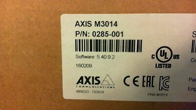 Axis M3014 Fixed Dome Network Camera 0285-001  Network IP POE CAMERA NEW