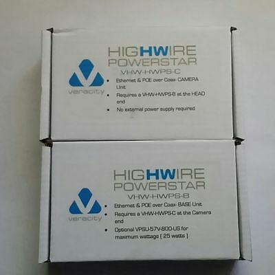 VERACITY HIGHWIRE POWERSTAR Set, Ethernet POE extender over COAX