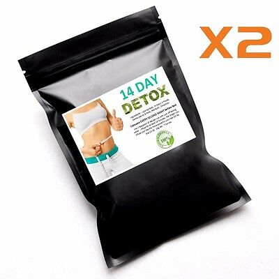 28 Day Detox 2 x 14 Tea Colon Cleanse Weight Loss Diet Laxative Skinny Me Mint