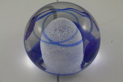Round Kosta Boda  Bertil Vallien Glass Paperweight Signed & Numbered 98931