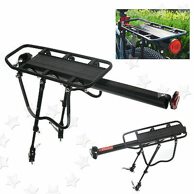 Quick Release Bicycle Rear Rack Seat Post Mount Pannier Luggage Carrier Shelf