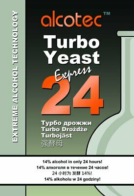 ALCOTEC 24 TURBO SUPER YEAST x10 PACKETS