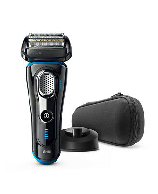 New Braun Series 9 Wet/Dry Electric Shaver Black Plus Charge Station & Travel Ca