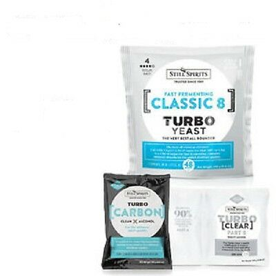 Still Spirits Brew Pack Turbo Classic 8 Yeast, Carbon And Clear