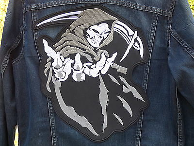 GRAND ECUSSON PATCH THERMOCOLLANT/ SONS OF ANARCHY 35.5 x 31cm GRANDE DIMENSION