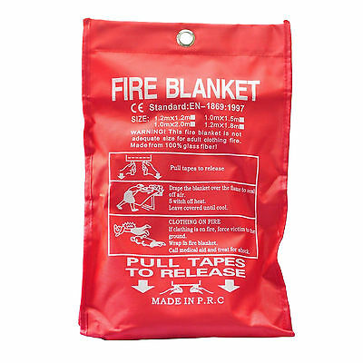 Bn Sealed Home Safety Fire Blanket Protection 1m X 1m 917S8