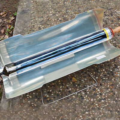 Portable Stove Solar Cooker Oven Fuel Free Cooking Camping Outdoor BBQ Grill New