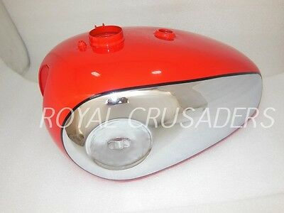 Brand New Bsa Gold Star Red Painted Chromed Petrol Tank (Reproduction) (Code332)
