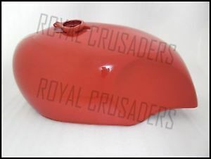 New Bsa A65 Spitfire 4 Gallon Red Painted Steel Petrol Tank (Code306)