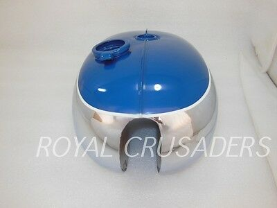 Bsa A65 2 Gallon Blue Painted Chrome Fuel Tank 1968-69 Us Specifications (Code37