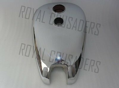 BRAND NEW ARIEL TWIN PLUNGER CHROMED PETROL TANK (REPRODUCTION) (code267)