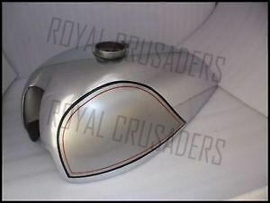New Norton Wideline Featherbed Grey Painted Chrome Steel Petrol Tank (Code760)