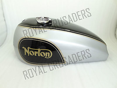 New Norton Dominator Wideline Black And Grey Painted Fuel Tank With Cap (Code719
