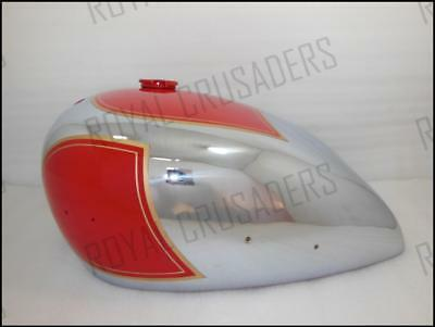 New Matchless Ajs Twin G9 G12 Red Painted Chrome Petrol Tank (Code623)
