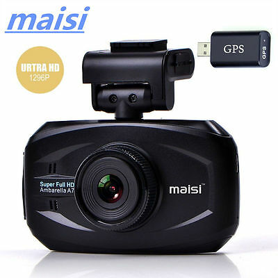 MAISI 1296P 3' Rear View Dash Camcorder  Blue Mirror In-Car DVR Vehicle Recorder