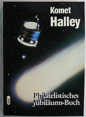 Komet Halley. Philatelistisches Jubiläums-Buch. 1986. Echte Briefmarken !
