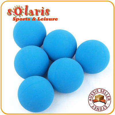 6 x Standard Speed Blue Racquetball Balls Racquet Sport High Bounce Rubber Ball
