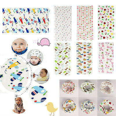 Kids Baby Boys Girls Cotton Scarves Neck Wrap Ring Scarf Shawl Neckerchief Snood
