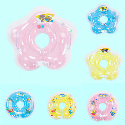 Baby Swimming Neck Float Infant Bath Ring Adjustable Safety Aids For 0-18 Months