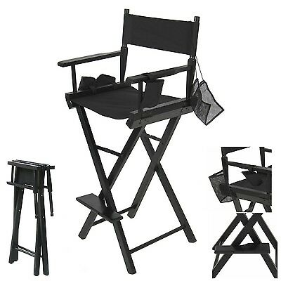 Makeup Artist Director Chair Wooden Light Weight and Side Bags Professional NEW