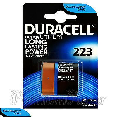 1 x Duracell Ultra Lithium CR223 6V battery DL223 EL223AP CR-P2 CRP2 EXP:2024