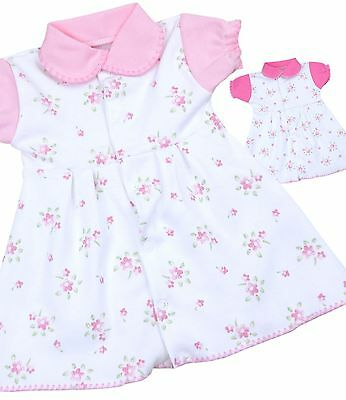 BABYPREM Baby Clothes Premature Tiny Pink Floral Flower Dresses 1.5 - 7.5lb