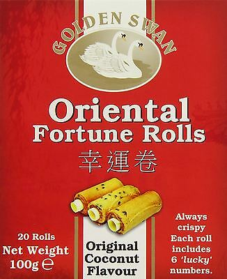 20 Fortune Roll Cookie 100g Individually Wrapped Chinese New Year Birthday Party