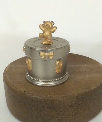 Russ Berrie Kids Gift Silver & Gold Toned Metal Tooth Fairy Keepsake Box-**NEW**