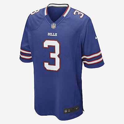 Nike NFL Buffalo Bills American Football Game Jersey E.J. Manuel 3 ON FIELD M