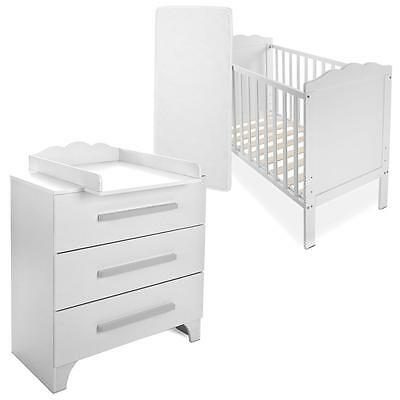 baby komplettzimmer baer braun kinder bett 120x60 wickelkommode bettwaesche set eur 289 90. Black Bedroom Furniture Sets. Home Design Ideas