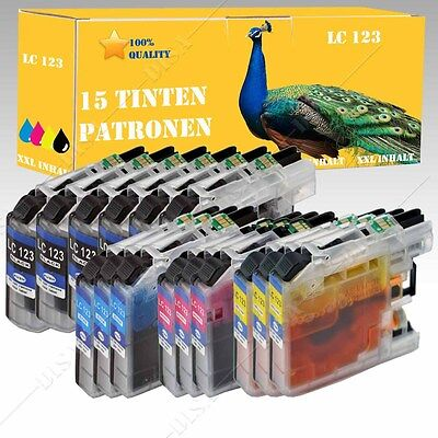 1- 20 Druckerpatronen INK kompatibel mit Brother LC121 LC123 DCP-J132W DS-001