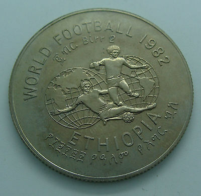 Ethiopia;1982 World Football Coin.