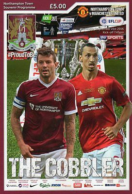 2016-17 - Northampton Town v Manchester United LC 21.9.2016 & Used Ticket