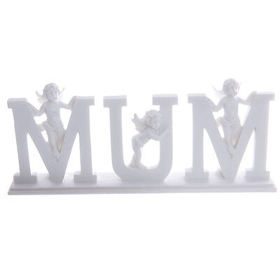 Mum Letters With Cherubs - Gift - Home Decor - Ornament - Figurine - Angels