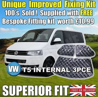 Vw T5 Thermal Internal Blinds Interior Blind Set Kit Silver Windscreen Screen