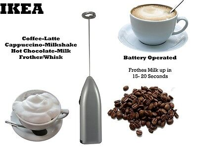 IKEA Coffee Latte Hot Chocolate Milk Frother Whisk Frothy Blend Mixer Whisker BN