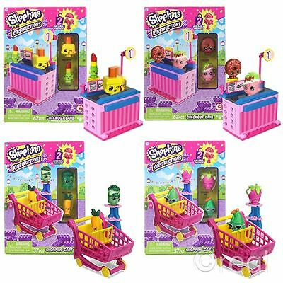 New Shopkins Shopping Cart Or Checkout Lane Kinstructions Sets & Figure Official