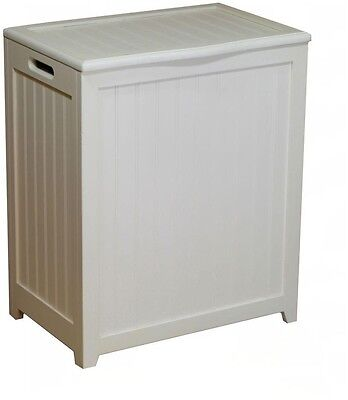 Wood Laundry Hamper Cabinet Bathroom Furniture Clothes Storage ...